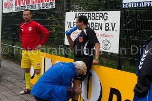 Pancratius 2 – Hoogland 2 bij 1 – 0 gestaakt wegens blessure van de scheidsrechter