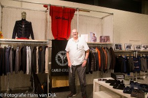 "Op de ""Just for Him"" beurs in het World Fashion Centre! Ron Houthuizen met Carlo Colucci, Torras, Danilo en Mark 7 en de buurman Walter Langbroek met F32 spirit of Italy"