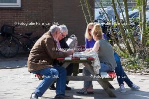 Pancratius zondag 3 april met een minuut stilte voor Johan Cruijff en het 2e tegen ADO 20 2 en 3e tegen OSC 2 en zonnige foto's