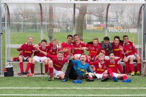 Pancratius zaterdag 25 maart met de tegenstanders Legmeervogels JO13-3, FC Aalsmeer JO13-6, GeuzenM'meer JO12-2, WSV 30 JO17-1, Limmen JO15-1, FC Aalsmeer MO13-1en Eemnes 1