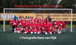 1e dag van herfst voetbalkamp bij Pancratius