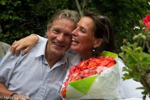 Tuinfeestje ter ere van Jan zijn 65e verjaardag