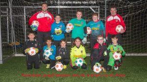 Pancratius jeugd keepers met de trainers Co en Petje