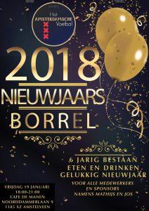 6-jarig bestaan en Nieuwjaarsborrel Het Amsterdamsche Voetbal in Café de Manen