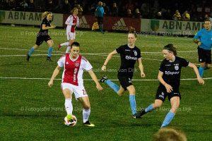 Dames AJAX – PEC Zwolle uitslag 0 - 0