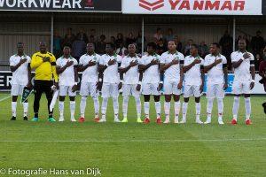 De eerste oefenwedstrijd van Natio Suriname tegen Almere City uitslag 2 – 0 in het voordeel van de tegenstanders