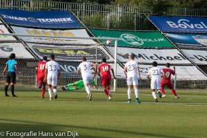 De tweede oefenwedstrijd van Natio Suriname tegen Telstar was een gelijkspel 1 - 1