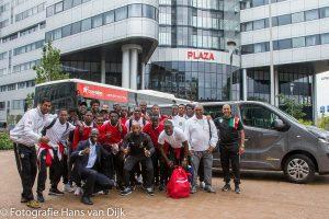 Afscheid Natio Suriname van een geslaagde training stage in Nederland